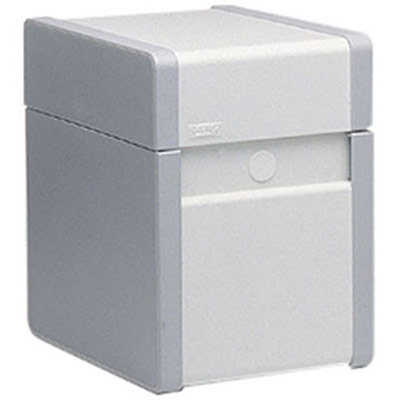 Boîte à fiches métal - fichier en largeur - 320 x 250 mm - gris (photo)