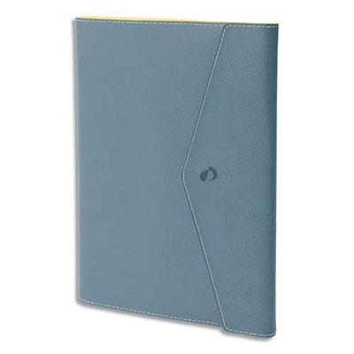 Agenda Quo Vadis - clover toscana affaire - spiralé - avec répertoire - 1 semaine sur 2 pages - 10 x 15 cm - papier ivoire - bleu