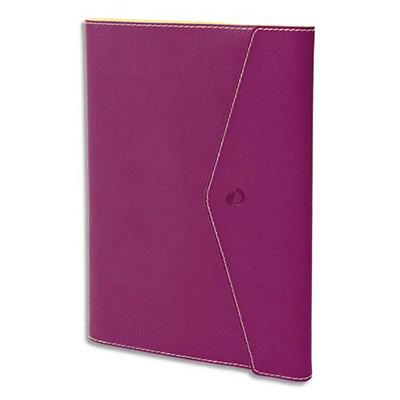 Agenda Quo Vadis - clover toscana affaire - spiralé - avec répertoire - 1 semaine sur 2 pages - 10 x 15 cm - papier ivoire - fuschia