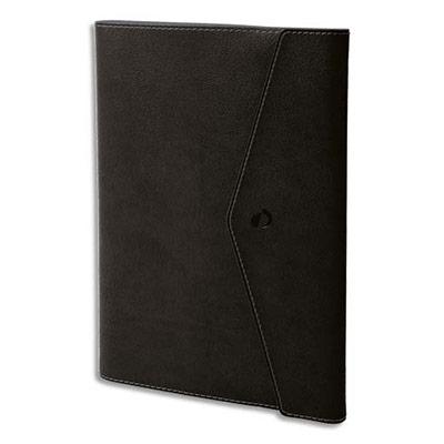 Agenda Quo Vadis - clover toscana affaire - spiralé - avec répertoire - 1 semaine sur 2 pages - 10 x 15 cm - papier ivoire - noir