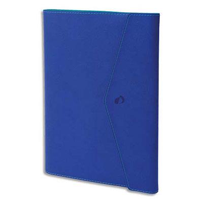 Agenda Quo Vadis - clover toscana ministre - spiralé - avec répertoire - 1 semaine sur 2 pages - 16 x 24 cm - papier ivoire - bleu