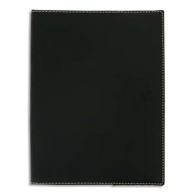 Agenda Oxford - hétirage - spiralé - cuir -  1 semaine sur 2 pages - 21 x 29,7 cm - noir