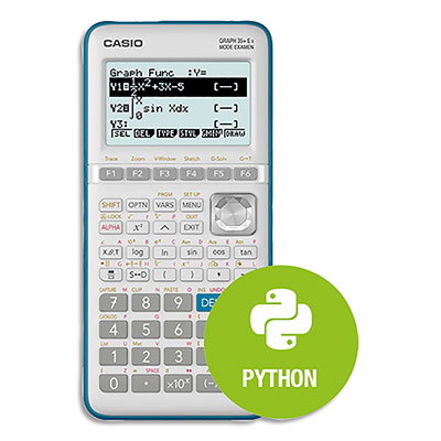Calculatrice graphique Casio Graph35+E II - menu python intégré