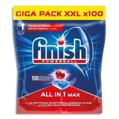 Pastilles Finish Powerball tout en un - pour lave-vaisselle tous cycles - sachet hydrosoluble - boîte de 100 (photo)