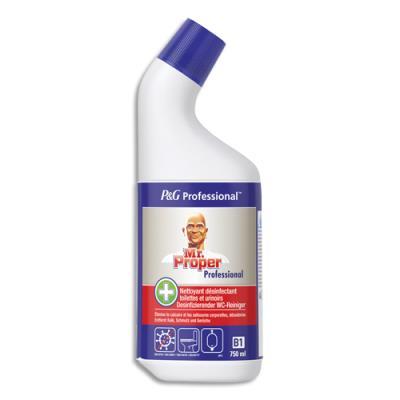 Gel WC nettoyant et détartrant Mr Propre - pour toilettes et urinoirs - parfum frais - flacon de 750 ml