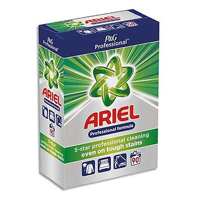 Lessive en poudre tachetée Ariel Pro - agit dès 30° - parfum frais - baril de 90 doses (photo)