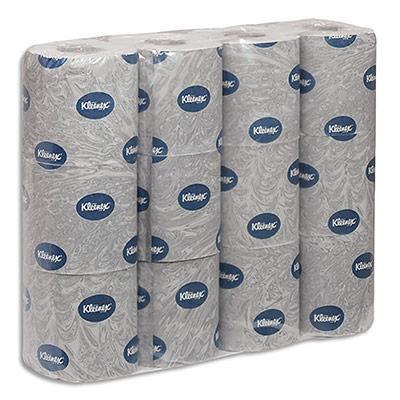 Papier toilette Kleenex Ultra douceur - 2 plis - 150 feuilles - colis de 8 paquets de 12 rouleaux - blanc