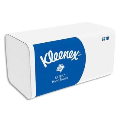 Essuie-mains Kleenex Ultra doux - 3 plis - pliage en Z - colis de 15 paquets 96 -format 21,5x31,5 cm - blanc