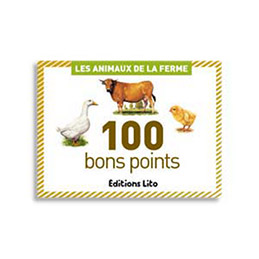 Boite de 100 bons points animaux de la ferme (photo)