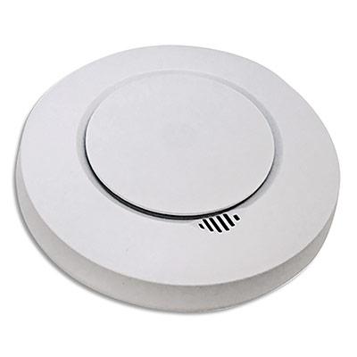 Détecteur de fumée Smart CE Blanc, 2 piles AA - 85Db à 3 m - blanc - diamètre 12 cm, hauteur 3,7 cm