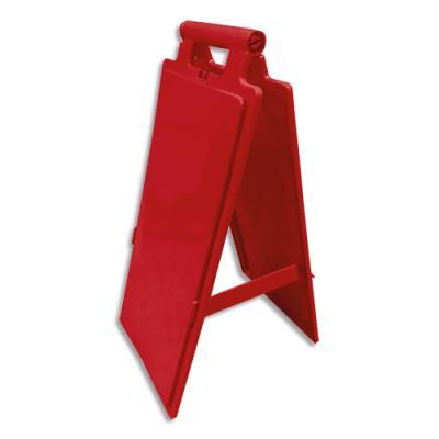 Balise de signalisation Viso de sol - polypropylène - à personnaliser - rouge - pliante L28 x H65 x P4/15 cm