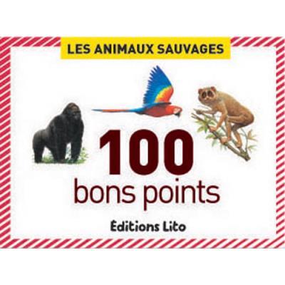 Boite de 100 bons points animaux sauvages (photo)