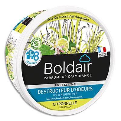Gel destructeur d'odeurs Boldair - parfum citronelle professional - pot 300 g