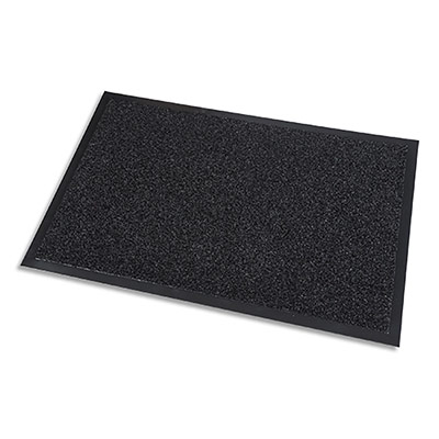 Tapis d'acceuil Paperflow - grattant intérieur et extrérieur - en PP - noir - 60 x 90 cm épaisseur 10 mm
