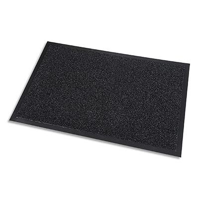 Tapis d'acceuil Paperflow - grattant intérieur et extrérieur - en PP - noir - 90 x 150 cm épaisseur 10 mm
