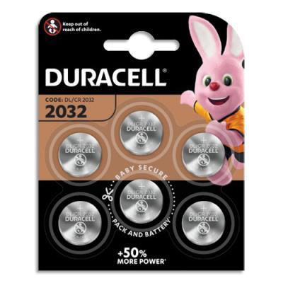 Piles Duracell 2032 lithium pour appareils électroniques - blister de 6