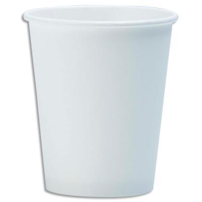 Gobelet Huhtamaki SP8 - carton - 18 cl - blanc - carton de 2500 - diamètre 7,03 x hauteur 9,3 cm (photo)