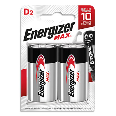 Piles Energizer D LR20 max - blister de 2