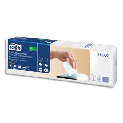 Serviettes enchevêtrées 2 plis - colis de 5 paquets de 200 - 21,6x16,6cm - pour distrib Xpressnap N4 - blanc