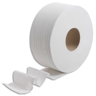 Papier toilette Kleenex - 2 plis - colis de 6 rouleaux - L190 m x D20 cm, mandrin D7,8 cm - blanc