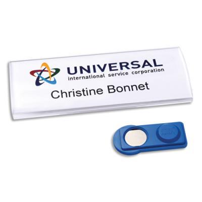Badges Avery profil® aimanté - transparent - 75 x 30 mm - 60 inserts imprimables 27 x 75 mm - boîte de 10