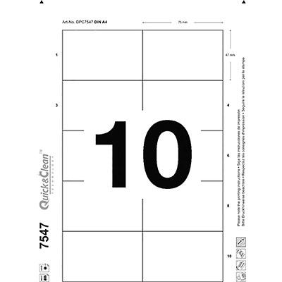 Inserts Avery pour badge imprimables bords lisses - 47 x 75 mm - boîte de 100