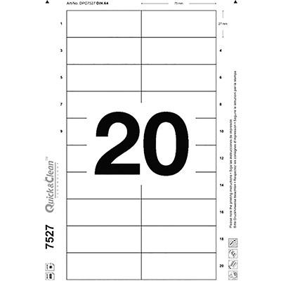 Inserts Avery pour badge imprimables bords lisses - 27 x 75 mm - boîte de 200