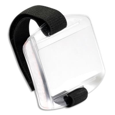 Brassard Avery porte-badge transparents - ruban scratch ajustable badge 54x86 mm - boîte de 10