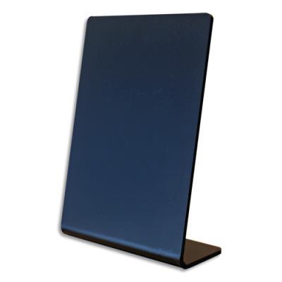 Ardoise inclinée Deflecto en L - acrylique - epaisseur 2 mm - format A6 - noir