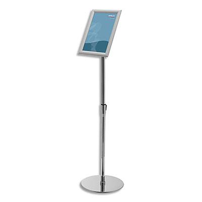 Présentoir sur pied Deflecto avec cadre clipsable - A4 - aluminium - pieds régllables en acier