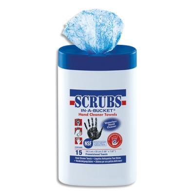 Lingettes professionnelles nettoyantes pour les mains Jelt Scrubs - boîte de 15