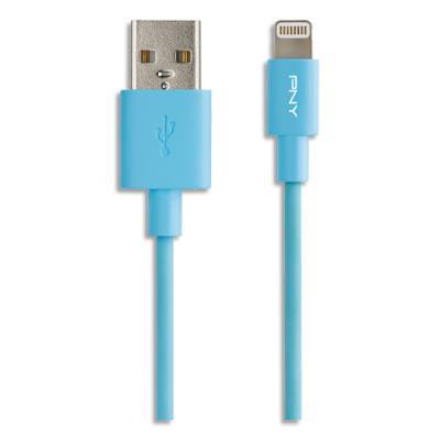 Câble Mobility PNY USB 2,0 vers Lightning - 1,20 M - BL