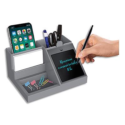 Organisateur bureau Cep 4 cmpts -  équipé d'un bloc note 2,0 - écran détachable 10,6cm (+stylet) (photo)