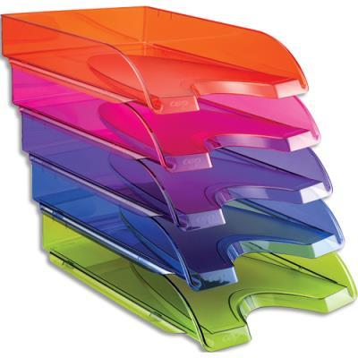 Corbeille à courrier Cep Happy - docs juqu'au format 24x32 + pochettes à élastiques - lot de 5