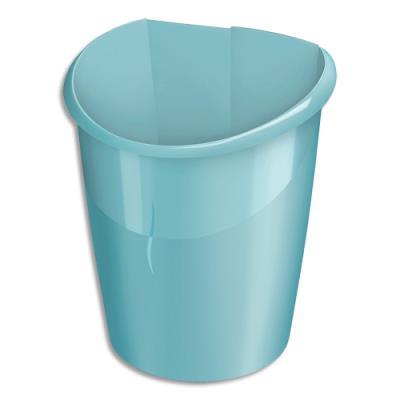 Corbeille à papier Cep Ellypse - polypropylène, clipsable -  L27,8 x H38 x P31,8 cm - Vert d'eau (photo)