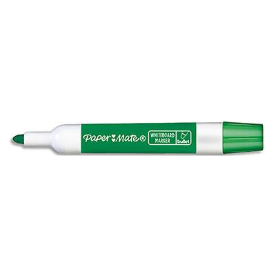 Marqueur effaçable à sec Papermate - pour tableaux blancs - pointe ogive - encre verte