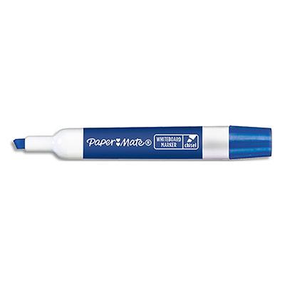 Marqueur effaçable à sec Papermate - pour tableaux blancs - pointe biseautée - encre bleue