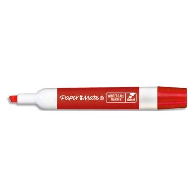 Marqueur effaçable à sec Papermate - pour tableaux blancs - pointe biseautée - encre rouge
