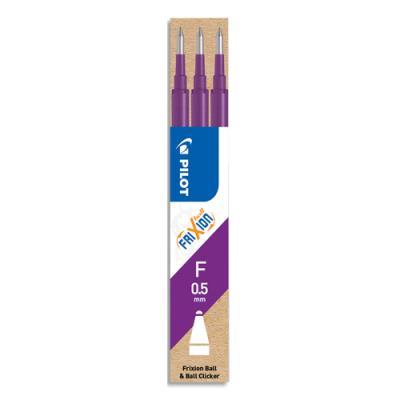 Recharge Pilot - pour roller FriXion - pointe fine 0,5 mm - set de 3 - encre violet