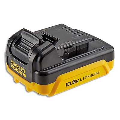 Batterie Stanley technologie Lithium Ion - 1,8 v - 1,5 AH - pour visseuse Slide Pack - jaune noir (photo)