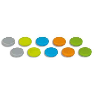 Aimants néodyme Maul - silicone - 0,8kg - blister de 10 - coloris assortis