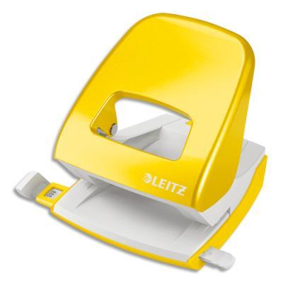 Perforateur 2 trous Leitz - capacité 30 feuilles - jaune - livré en boite