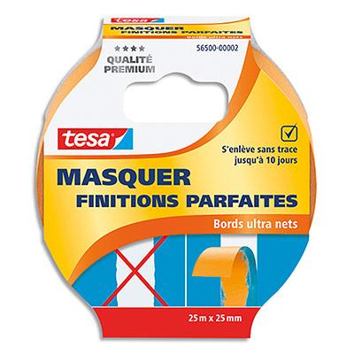 Adhésif de masquage Tesa - papier wash - 25m x 25mm - orange