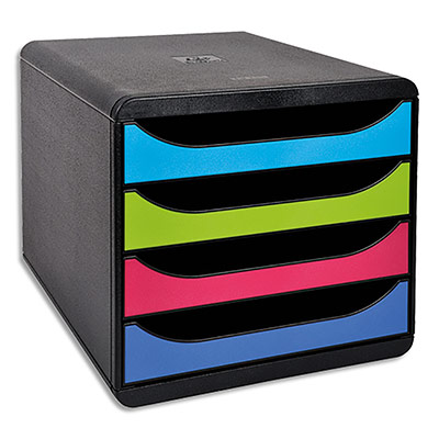 Big-Box Exacompta - 4 tiroirs pour docs - format A4+ - coloris noir / 19328