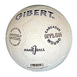 Ballon de hand sport, officiel, caoutchouc sur carcasse Nylon, taille 1 = Juniors Modèle: Caoutgrip