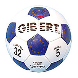 Ballon football sport, caoutchouc sur carcasse Nylon, surface grainée, taille 5 , (photo)