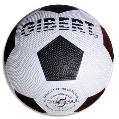 Ballon football sport, caoutchouc sur carcasse Nylon, surface grainée, taille 5 ,