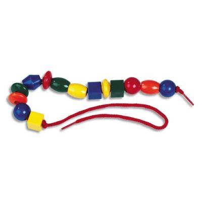 Sachet de 150 perles colorées, de tailles et formes différentes (photo)