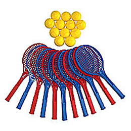 Lot de 12 raquettes de tennis plastique