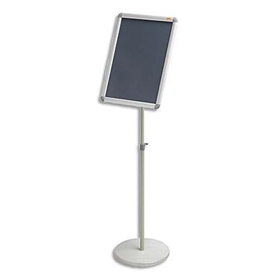 Présentoir sur pied Nobo - cadre clipsable - aluminium - format A3